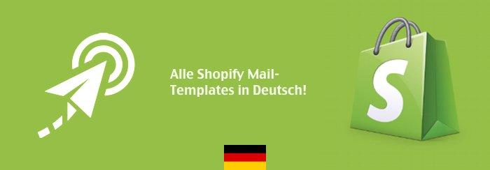 Shopify E-Mail Templates in Deutsch