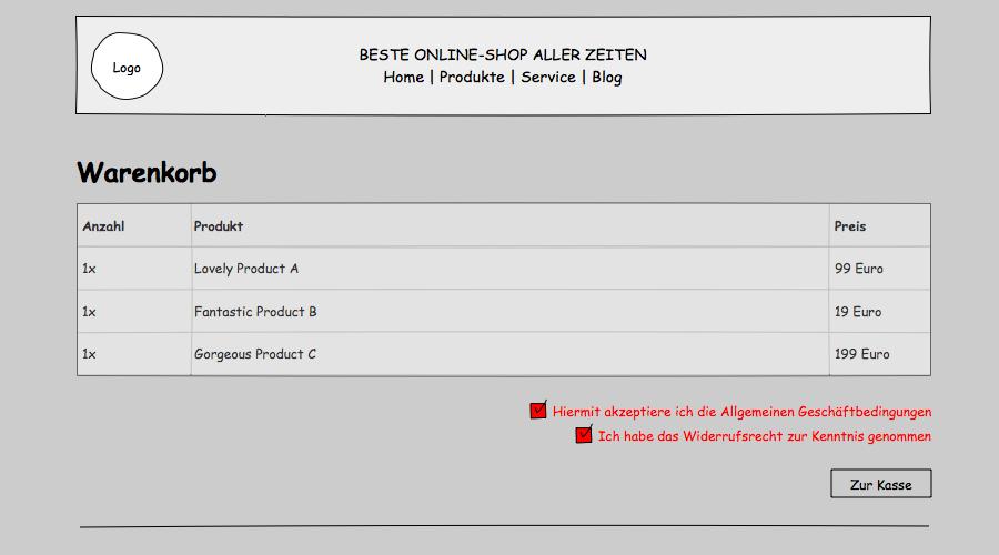 AGB-Bestätigungstexte für Shopify