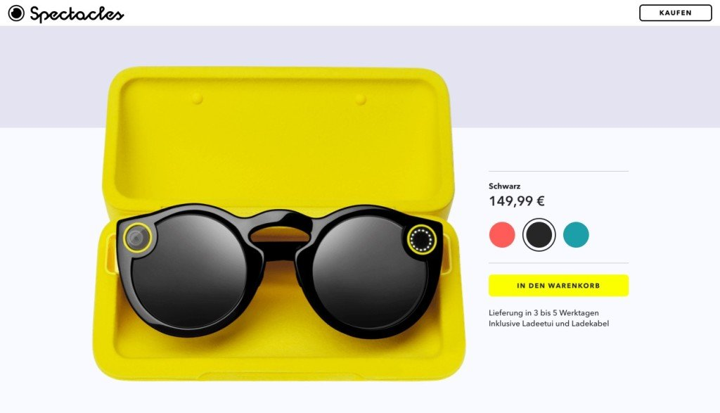 Snapchat Spectacles Shopify Store