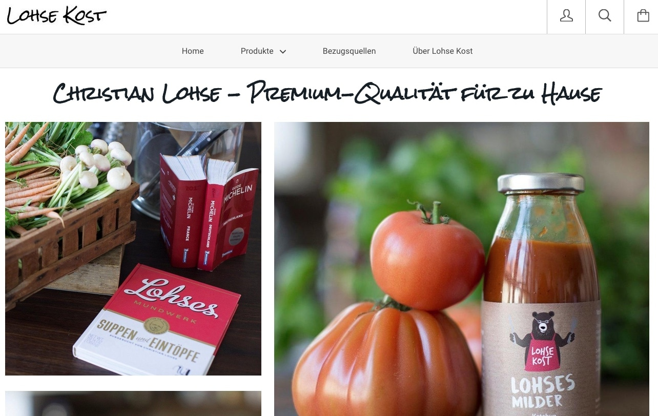 Lohse Kost - Online Shop von Sterne-Koch Christian Lohse aus Berlin