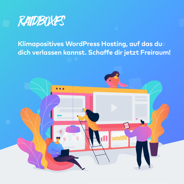 Klimapositives Hosting für WordPress